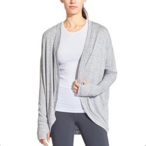 Athleta | Post Gray Wrap Cardigan Sweater Marled